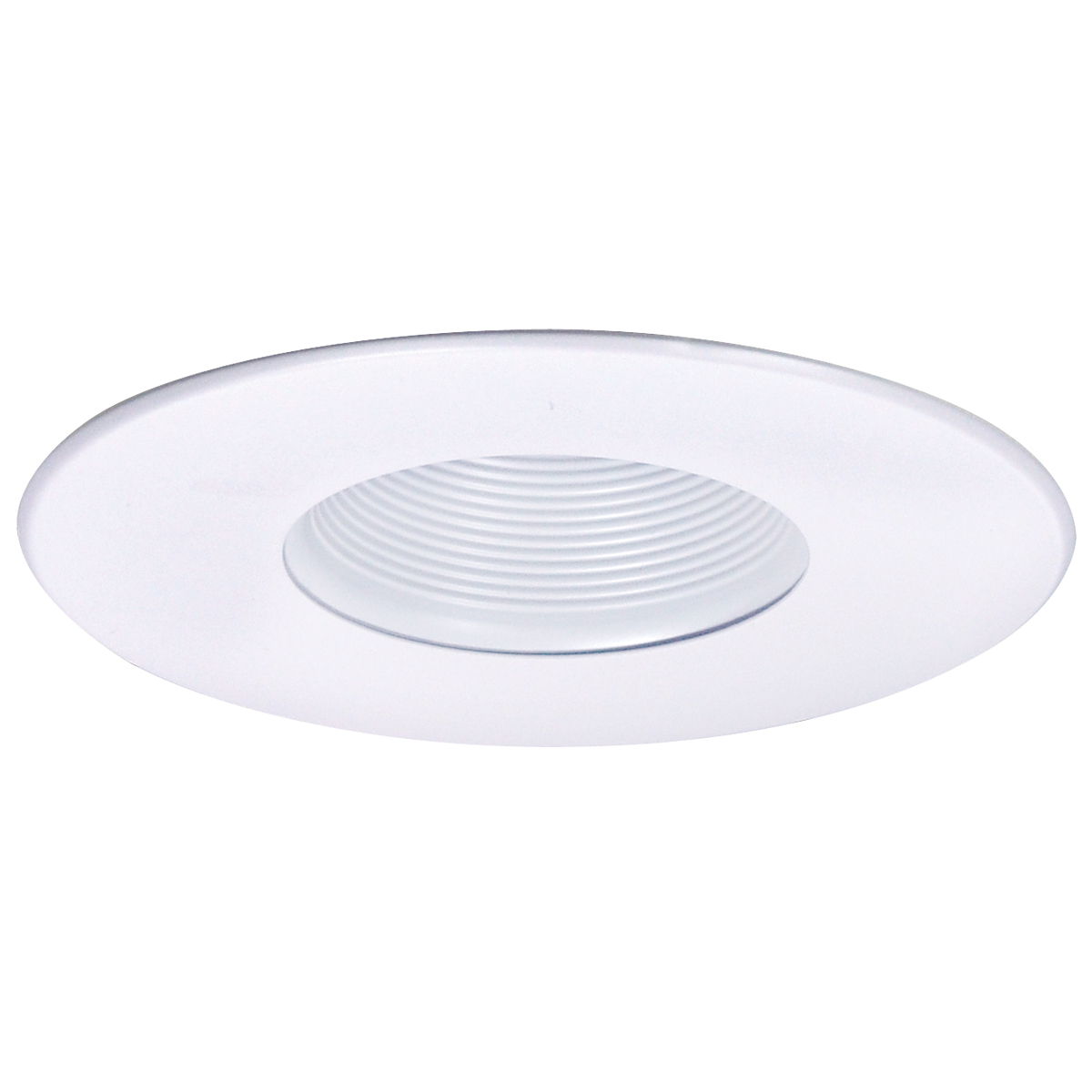 NOR NL-641W 6-IN DESIGNER STEPPED BAFFLE TRIM WHITE