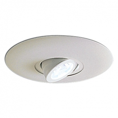 NOR NL-665W 6-IN SURFACE ADJUSTABLE ROUND SPOT W/ METAL TRIM WHITE